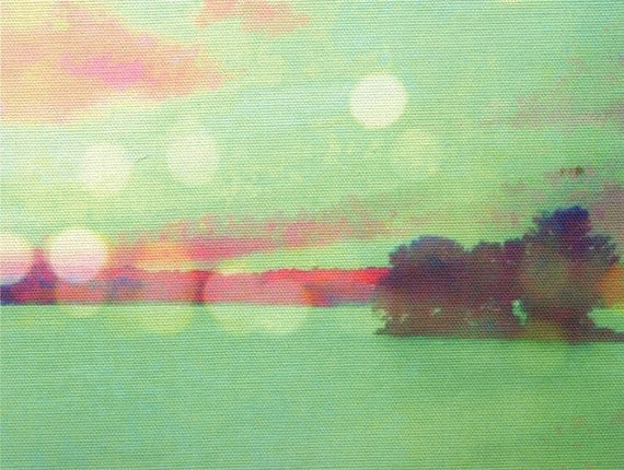 Digital print on canvas- Edge of Lil Isle on the Hudson River by Gretchen Kelly