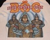 Vintage BOC Blue Oyster Cult Tour 1982 tshirt XL Super Soft