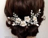 Gold Bridal Headpiece, Wedding Hair Accessories ,Flower Rhinestone Wedding Hair Vine, Bridal Hair Combs  rhinestone wedding headpieces