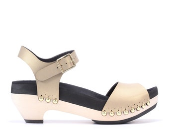 Mid Heel with Ankle Strap | Custom Fit, Vegan, Hand-Sculpted | 6 Color Options