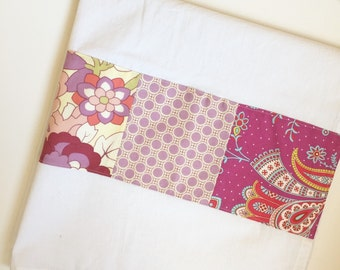 Kitchen Towel in purple dots and cream floral