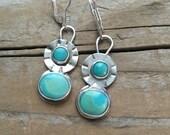 Little Cuties turquoise dangle earrings