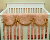 Scalloped Teething Guards Rail Cover Protector with Ruffled edges- One Long Side