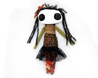 Cinnamon - a one of a kind rag doll