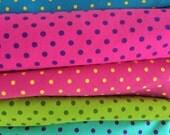 Knit small dots 1/2 yard bundle cotton spandex