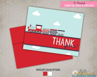 Train Birthday Party Thank You Notes,Train Thank you cards