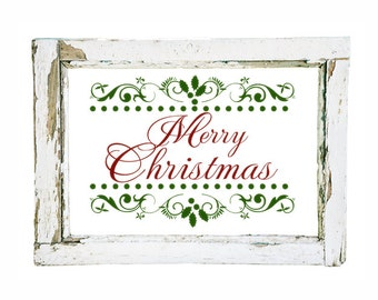 Christmas Decal Merry Christmas Decal Merry Christmas Decoration Vinyl Wall Decal Sticker Holiday Decoration Holiday Sign Holiday Decal