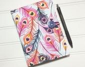 Mini Shopper - Notepad holder List taker - Peacock Feathers