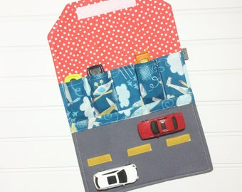 Car Wallet - Holds 5 of your child's favorite cars  - Airplanes