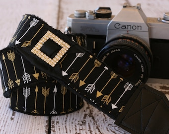Camera Strap. Arrow Camera Strap.  DSLR Camera Strap.  Cute Camera Strap. Camera Neck Strap. Padded Camera Strap. Digital Camera Strap.