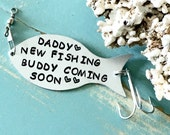Fishing Lure Personalized, Pregnancy Announcement To Husband, Gift For Fisherman, New Daddy Gift, Fishing Gifts, Personalized Fishing Lure