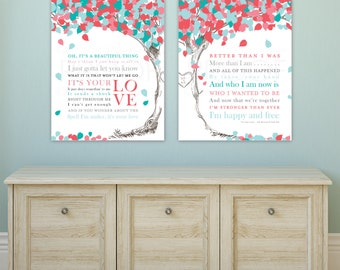 Wedding Song Lyrics Canvas, First Dance Canvas or Print, First Dance Lyrics, Wedding Song Lyric Art, Wedding Song Canvas / W-L09-2PS HH5 03P