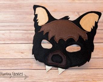 Bram the Bat Felt Mask for Pretend Play Costume