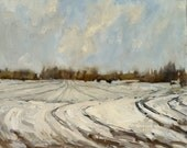 "Snow In Bristol | Original Painting Oil Painting Landscape Painting | 12"" x 14.25"""