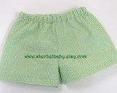 Seersucker Shorts  Fully Lined for Boys or Girls Optional Colors