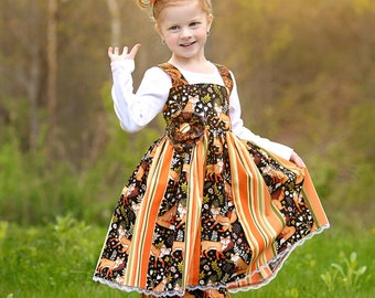 Little Fox - Boutique Outfit - Litttle Fox Birthday - Back to School - Birthday Outfit - First Day of School -  Fall Dress - 12 mo to 10 yrs