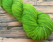 """CLEARANCE--450 yards - """"Yule Love June Beetle Green"""" - MCN Fingering Weight"""