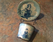 Tin litho Dutch toy cup plate