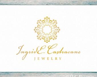Gold Foil Logo Design, Jewelry Logo, Custom Logo, Photography Logo, Business Logo, Watermark, Premade Logo, Custom Logo Design