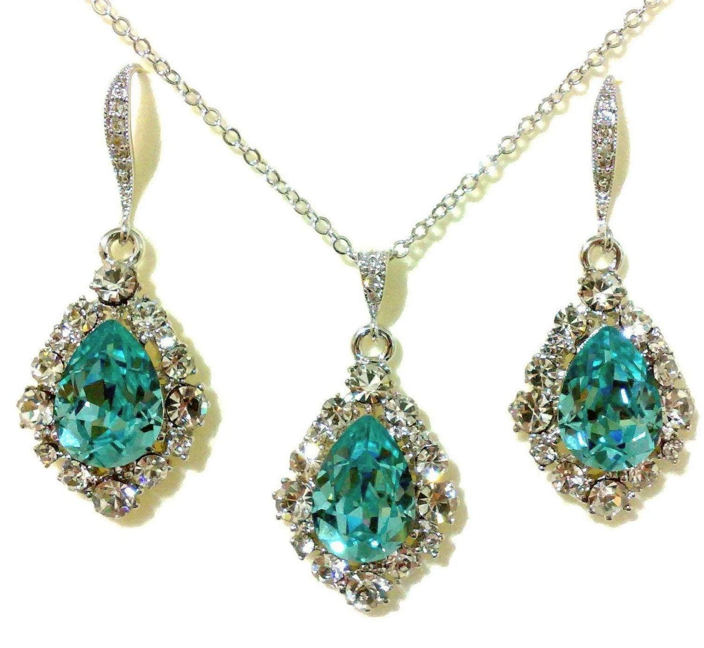 something blue wedding jewelry turquoise bridal earrings