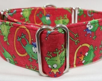 Freddie Frog Greyhound, Whippet, Galgo, Pit Bull, Dog, Sighthound, Martingale Collar