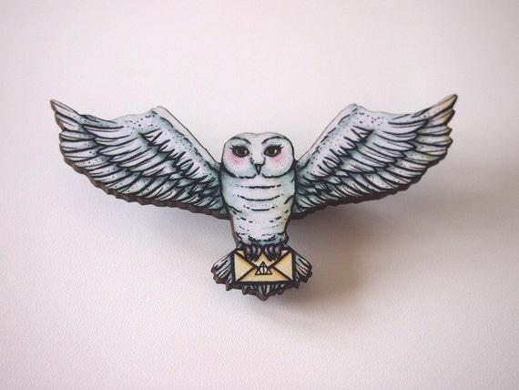 Hedwig Laser Cut Brooch