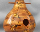 Art Bee Hive Gourd Bird House