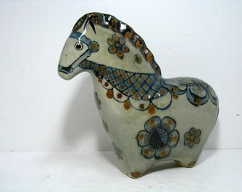 Vintage Mexican Folk Art Studio Pottery Mid Century Horse Fred & Barbara Meiers Large Danish style Lines