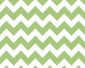 Sale - Green Chevron Fabric By The Yard - 100% cotton - Riley Blake