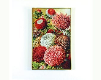 Flora Glass Decoupage Catch-all Glass Tray