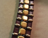 Leather & Gold Bracelet