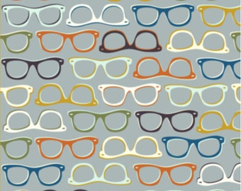 Spec-Tacular Glasses Fabric By Nadia Hassan - Colorful Glasses Fabric with Spoonflower - By the yard