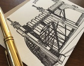 Smithfield Street Bridge - Pittsburgh City Series Letterpress Note Card