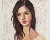 Jane / This is a print of a pastel drawing - wall art- art decor -  woman PORTRAIT ART PRINT
