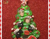 Christmas Tree Ornament, 5 People or Pets