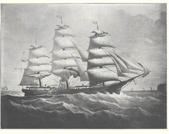 Print of the Sailing Ship Winona, built in 1862