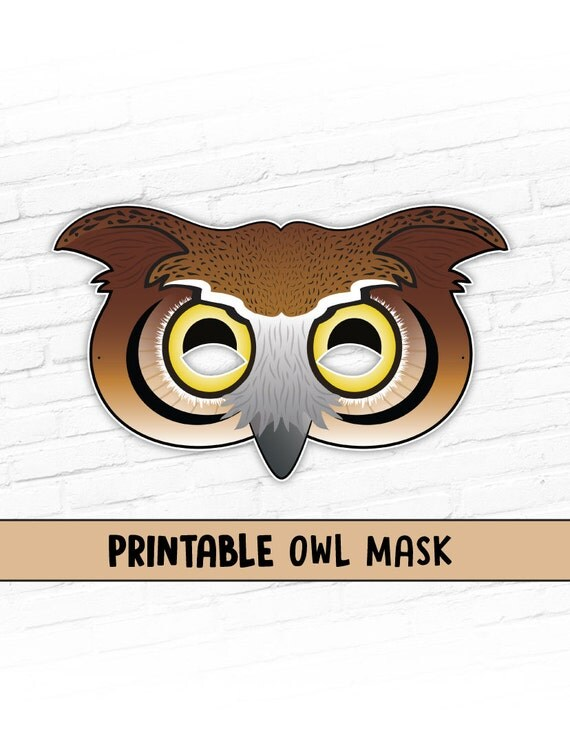 Playful image regarding printable owl mask