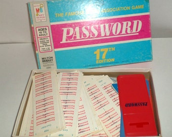 Vintage Password Game - Milton Bradley 1977 Password Game - Sleeves, Spinners, Cards, Score Sheets, and More - Family Game - Adult Game