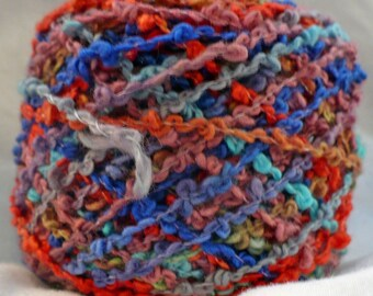 2016 Colorway of Handdyed Cotton Squiggle Yarn