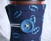 Winter Clearance Batman coffee cozy / cup sleeve / coffee cuff