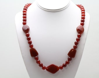 Carnelian Necklace. Listing 482528143