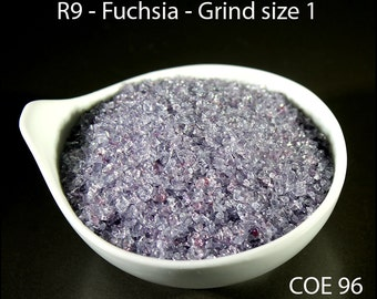 FuchsiaTransparent Lampwork Frit Grind size 1 COE 96 - 1 ounce