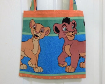 Up cycled Re cycled Tote Bag Disney Lion King