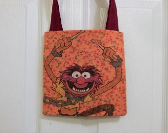 Up cycled Re cycled MINI  Tote Bag Disney Muppets Animal
