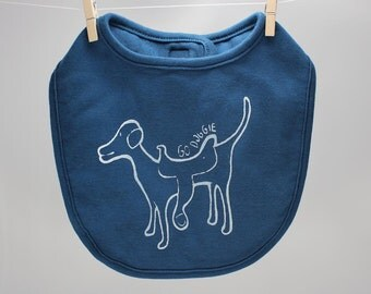 baby bib dog with saddle go doggie organic velcro bib baby shower gift cute baby accessories