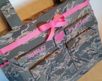 Gifts for babies and kids Air Force diaper bag camo diaper bag Daddy diaper bag gift for him handmade personalized custom gift for her ABU