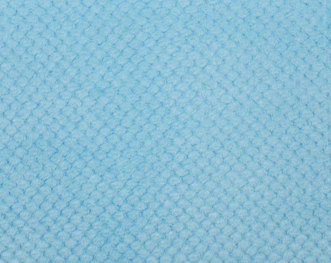 Minky Fabric Cloud Spa Cuddle Baby Blue Minky by Shannon Fabrics 100% Polyester