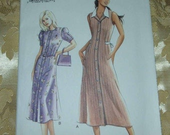 Very easy  vogue dress patterns sizes 8-10-12 UNCUT shipping included within Canada and U.S.A