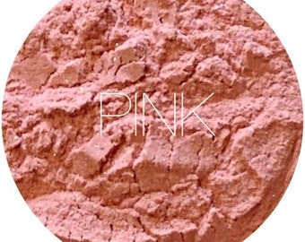 Pink Mineral Blush • Mineral Makeup • Vegan And Gluten Free Mineral Makeup • Earth Mineral Cosmetics