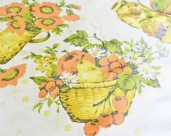 Autumn Tablecloth, Harvest  Tablecloth, Cottage Farmhouse Tablecloth, Orange Tablecloth